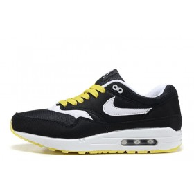 Nike Air Max 1 Black Yellow мужские кроссовки