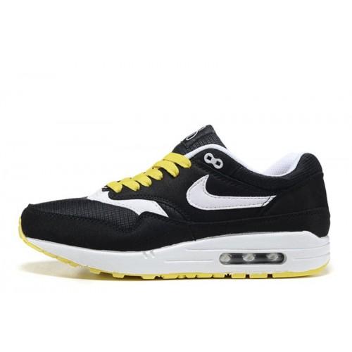 Nike Air Max 1 Black Yellow мужские АирМаксы