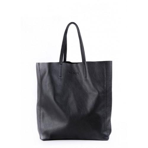 Женская кожаная сумка Pool Party City Black Bag