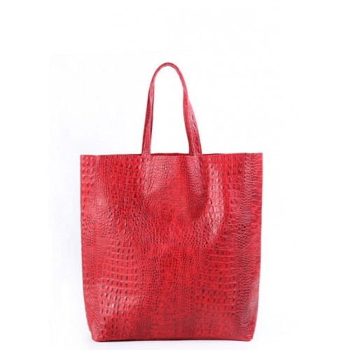 Женская кожаная сумка Pool Party City Croco Red Bag