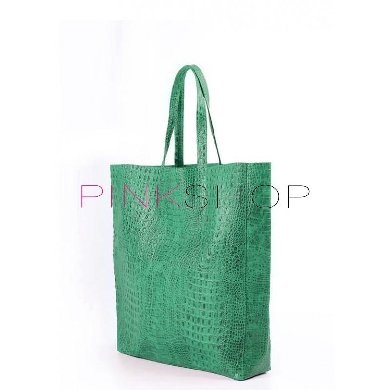847a25ab2c1c Кожаная сумка Pool Party Croco Green Bag купить в Киеве, женские ...