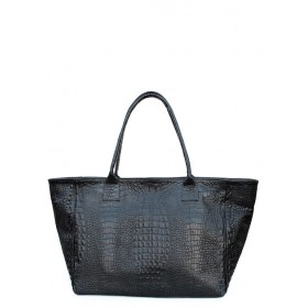 Кожаная сумка Pool Party City Desire Croco Black Bag