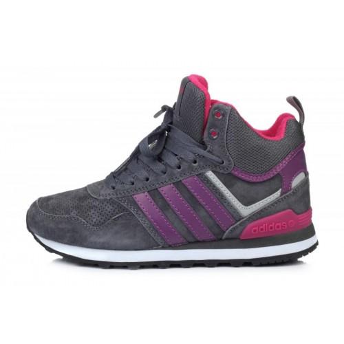 Adidas 10XT WTR MID Grey Purple женские кроссовки