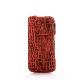 Кожаный чехол для iPhone (Айфона) 5/5s Pool Party Leather Red