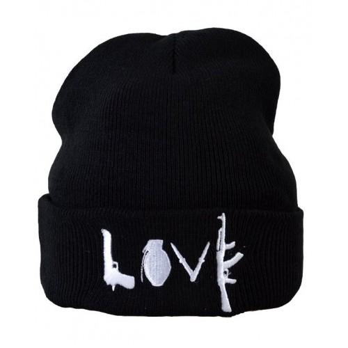 Шапка Love черная