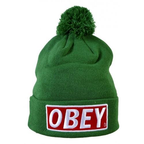 Шапка Obey зеленая