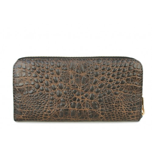 Женский кошелек Pool Party Leather Crocodile Brown