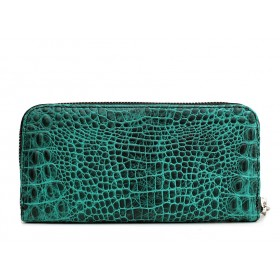 Женский кошелек Pool Party Leather Crocodile Green