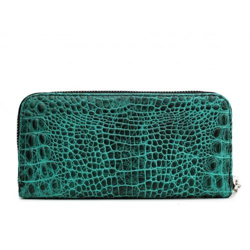 Женский кошелек Pool Party Leather Crocodile Green