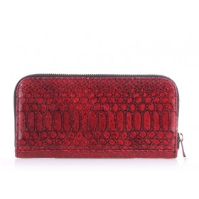 Женский кошелек Pool Party Leather Snake Red