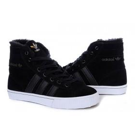 Adidas AdiTennis Fur Black мужские кроссовки
