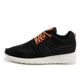 Nike Roshe Run Black Orange Knit мужские кроссовки