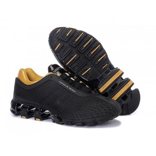 Adidas Porshe Design V Gold Black мужские кроссовки