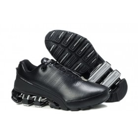Adidas Porshe Design IV Leather Gray Black мужские кроссовки