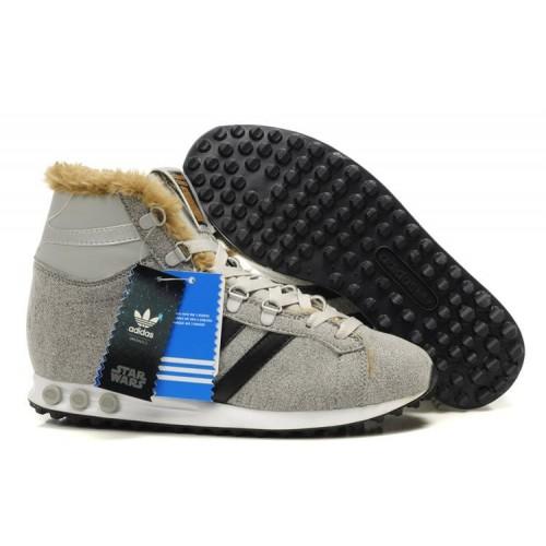 Adidas Jogging Hi S. W. Star Wars Chewbacca Gray мужские кроссовки