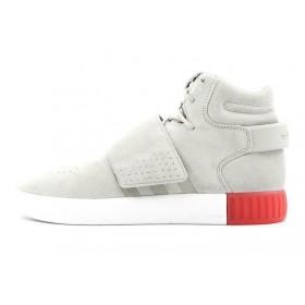Adidas Originals Tubular Invader Strap Sesame/Sesame/Vivid Red мужские кроссовки