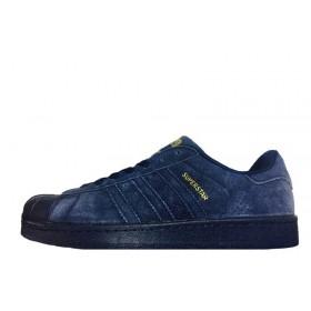 Adidas Superstar Suede Navy мужские кроссовки