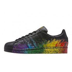Adidas Superstar Supercolor PW Paint Art Black мужские кроссовки