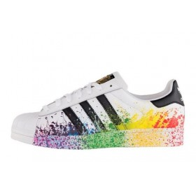 Adidas Originals Superstar Pride Pack White Rainbow мужские кроссовки