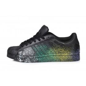 Adidas Superstar Supercolor PW Paint Art Black мужские кроссовки