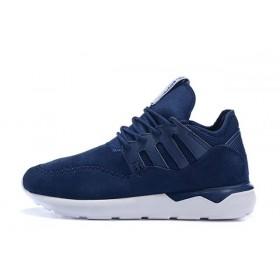 Adidas Tubular Moc Runner Suede Blue мужские кроссовки
