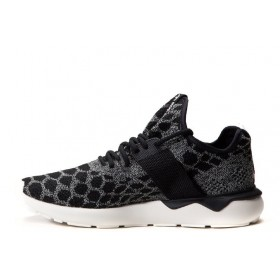 Adidas Tubular Runner Primeknit Stone Black мужские кроссовки