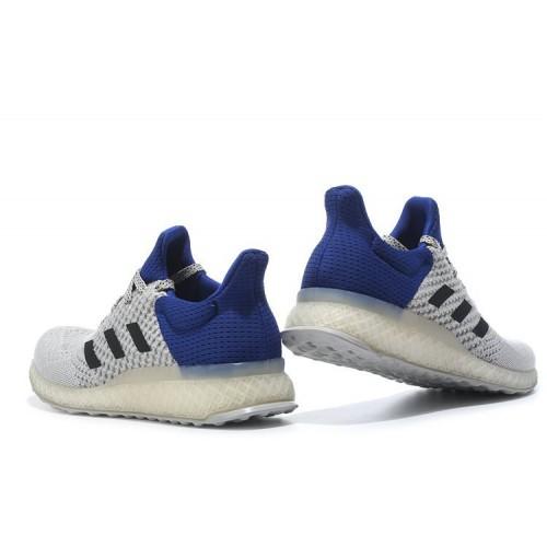 2e119884 ... Adidas Ultra Boost FutureCraft 3D White Blue мужские кроссовки