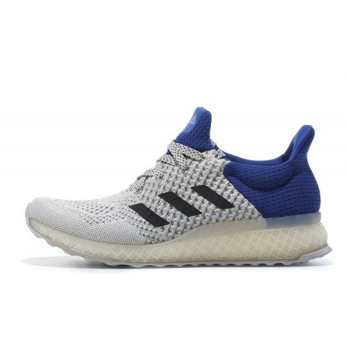 Adidas Ultra Boost FutureCraft 3D White Blue мужские кроссовки