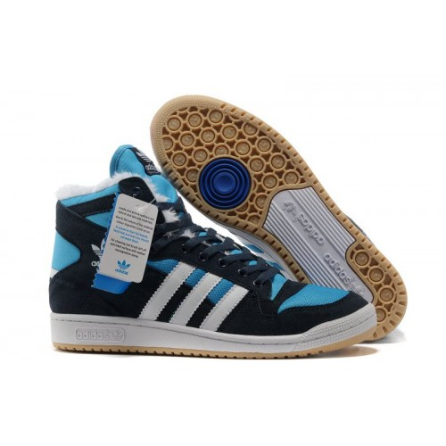Adidas Winter Originals Blue Black мужские кроссовки
