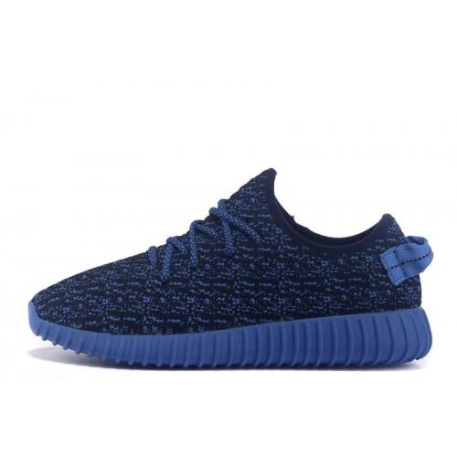 Adidas Yeezy Boost 350 Low Navy Blue мужские кроссовки
