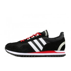 Adidas Originals ZX400 Black White University Red мужские кроссовки