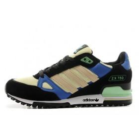 Adidas ZX750 Black Blue Green мужские кроссовки