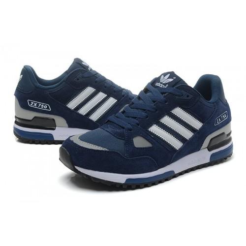 Adidas ZX750 Dark Blue мужские кроссовки