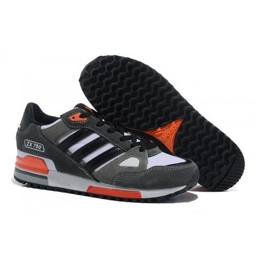 Adidas ZX750 Gray Orange мужские кроссовки