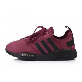 Adidas NMD Runner Suede Dark Red женские кроссовки