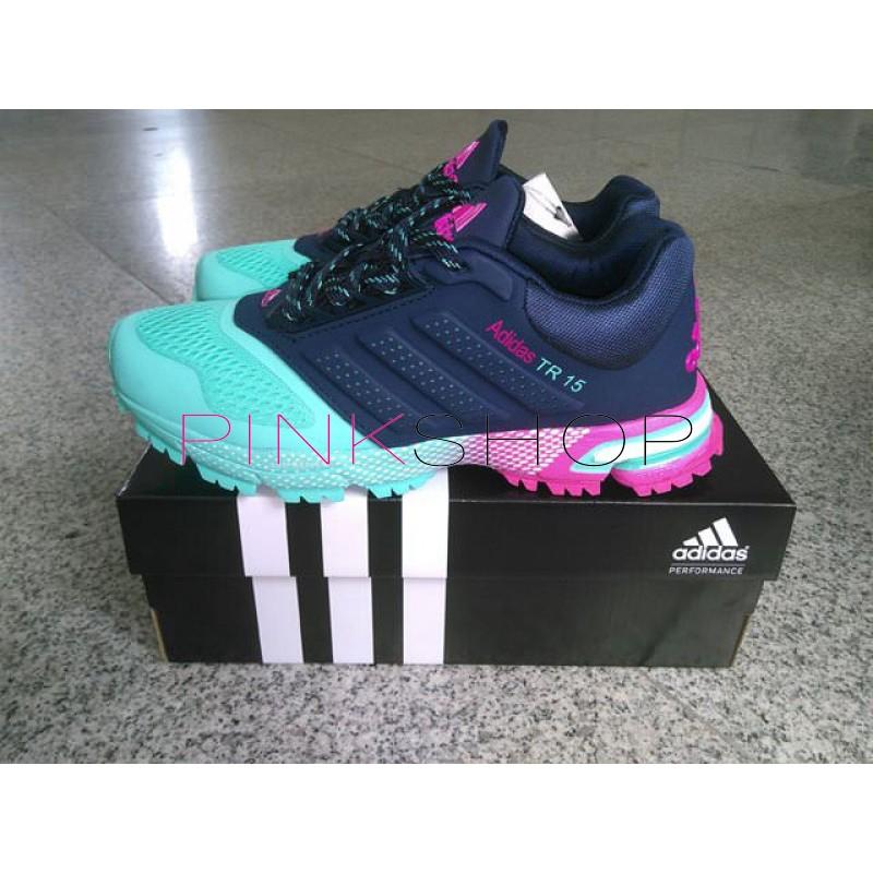 Кроссовки Adidas Marathon TR 15 Navy Aqua купить женские кроссовки ... c10f4d74214