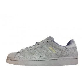 Adidas Superstar Suede Soft Grey женские кроссовки