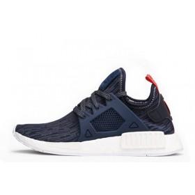 "Adidas NMD XR1 Primeknit ""GLITCH"" Navy Blue женские кроссовки"