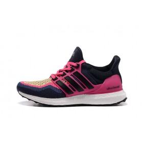 Adidas Ultra Boost Navy Pink женские кроссовки
