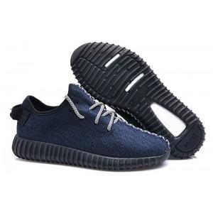 Adidas Yeezy Boost 350 Low Dark Blue мужские кроссовки