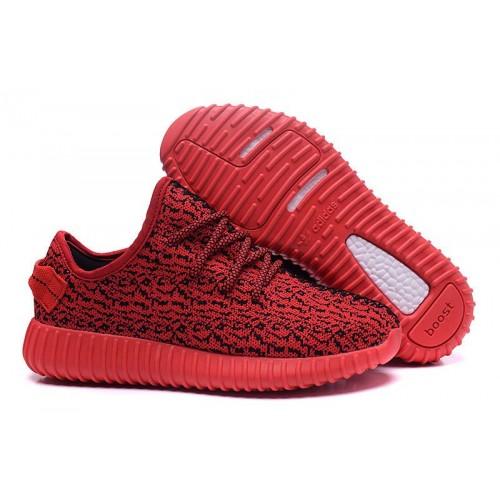 Adidas Yeezy Boost 350 Low Red женские кроссовки