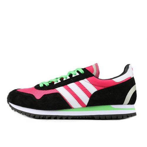 Кроссовки Adidas Originals ZX400 Hyper Pink Black White Lime Green женские