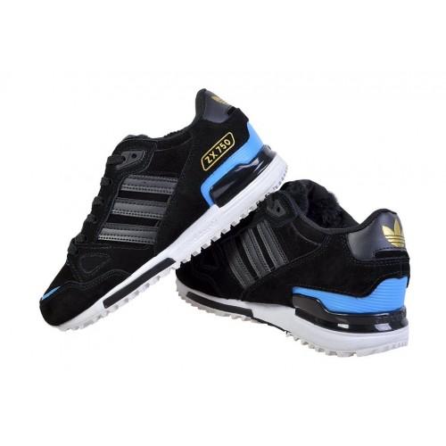 367ef5a6 Кроссовки Adidas ZX 750 Winter Black Blue купить женские кроссовки ...