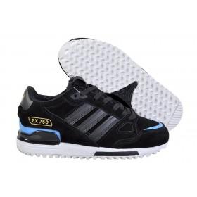 Adidas ZX 750 Winter Black Blue женские кроссовки