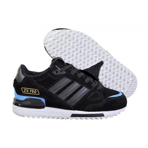 Кроссовки Adidas ZX 750 Winter Black Blue женские
