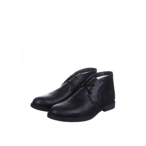 CG Desert Boots Winter Leather Navy Blue мужские ботинки