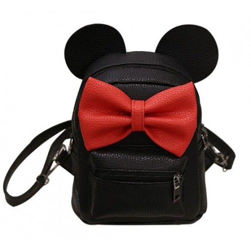 Рюкзак Mini Mouse PU Black Red