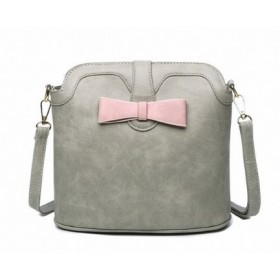 Сумка Bow Crossbody Grey Pink
