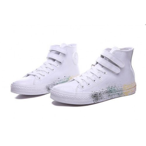 Converse All Star White Leather Paint мужские