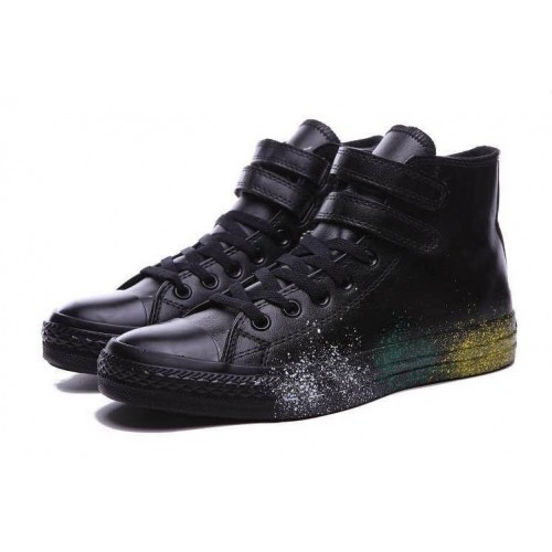 Converse All Star Black Leather Paint мужские
